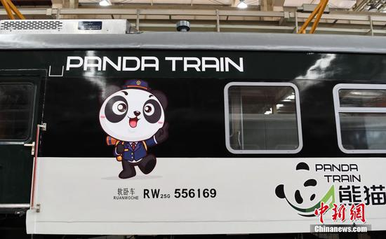 Take a look at panda-themed train in southwest China